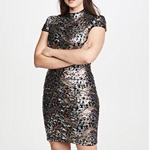 NEW Alice & Olivia Inka Sequin Midi Dress